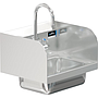 COMAL 14 x 10 x 5 HANDSINK WITH WALL FAUCET END SPLASH BOTH SIDES