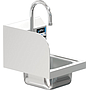 COMAL 9 x 9 x 5 HANDSINK SPACE SAVER WITH WALL FAUCET END SPLASH LEFT