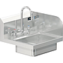 BRAZOS 14 x 10 x 5 HANDSINK WITH DECK FAUCET  END SPLASH RIGHT
